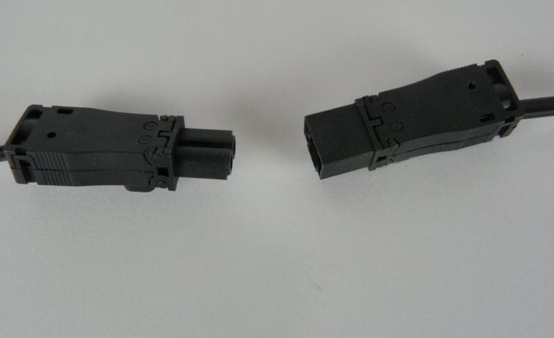 Mini stekker set male en female