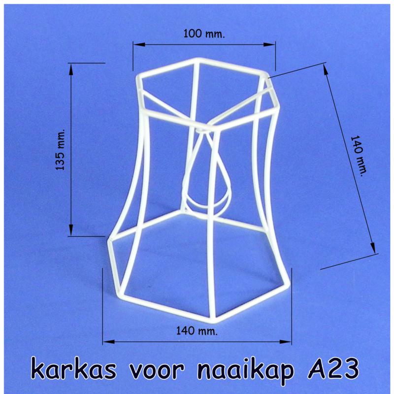 Model A23 frame 14 cm. voor een genaaide span lampenkap