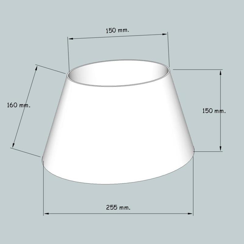 lampenkap ovaal model 4125 stof klasse 2