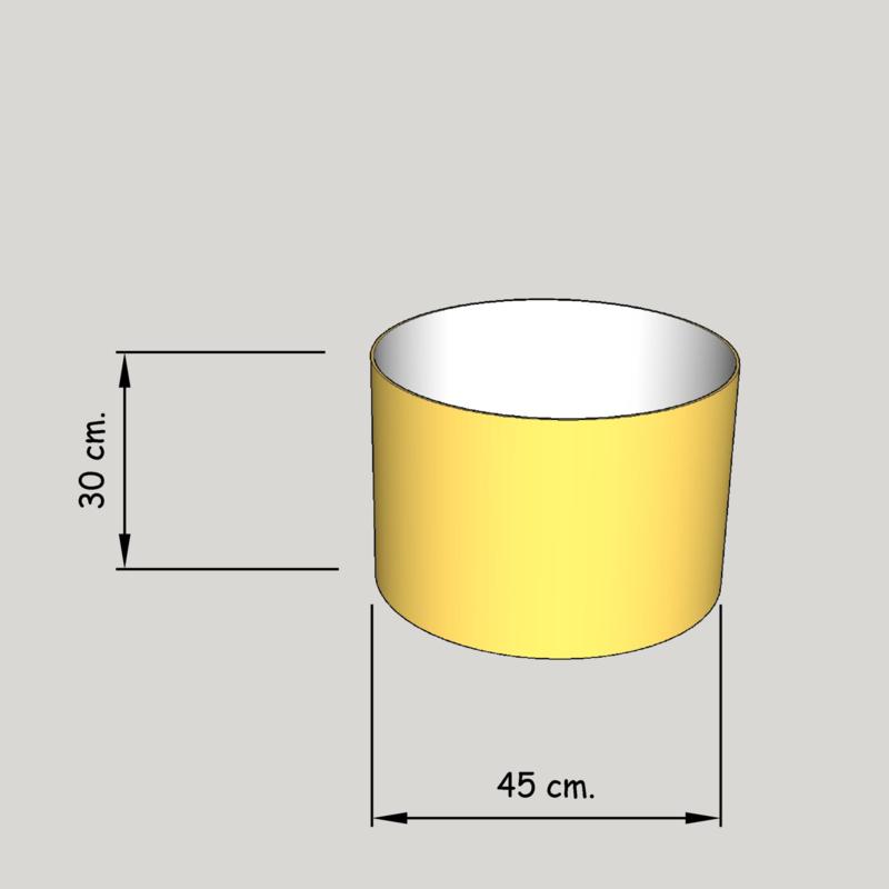 cilinder dia  450 mm.,  hoogte 300 mm. (of 250 mm.); stof klasse 1