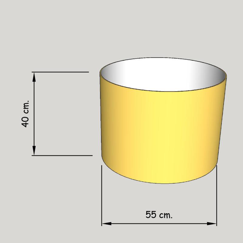 cilinder dia  550 mm.,  hoogte 400 mm. (of 350 mm.); stof klasse 2