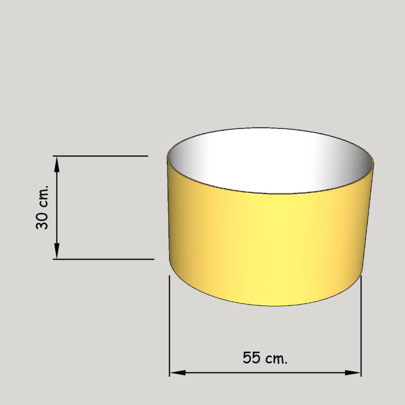 cilinder dia  550 mm.,  hoogte 300 mm. (of 250 mm.); stof klasse 1
