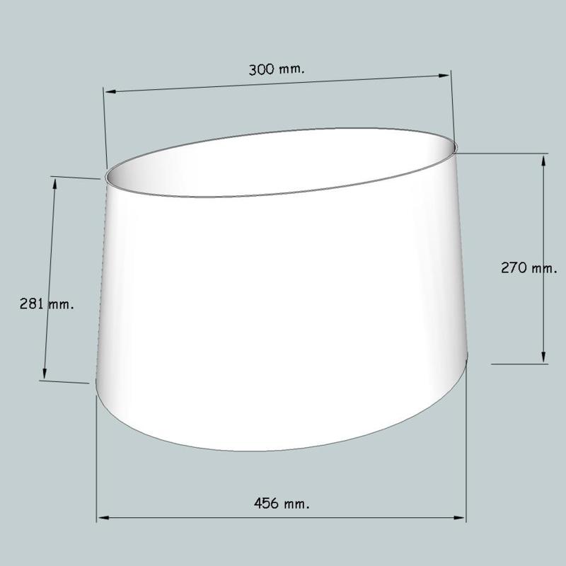 lampenkap ovaal model 4145 stofklasse 2