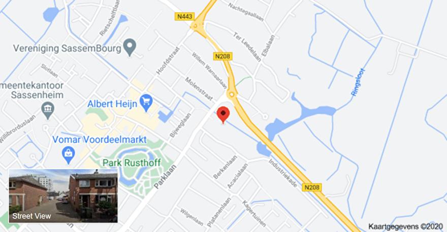 kaart met adres