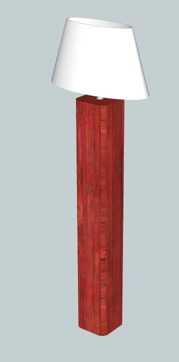 ovale lampenkap op houten voet