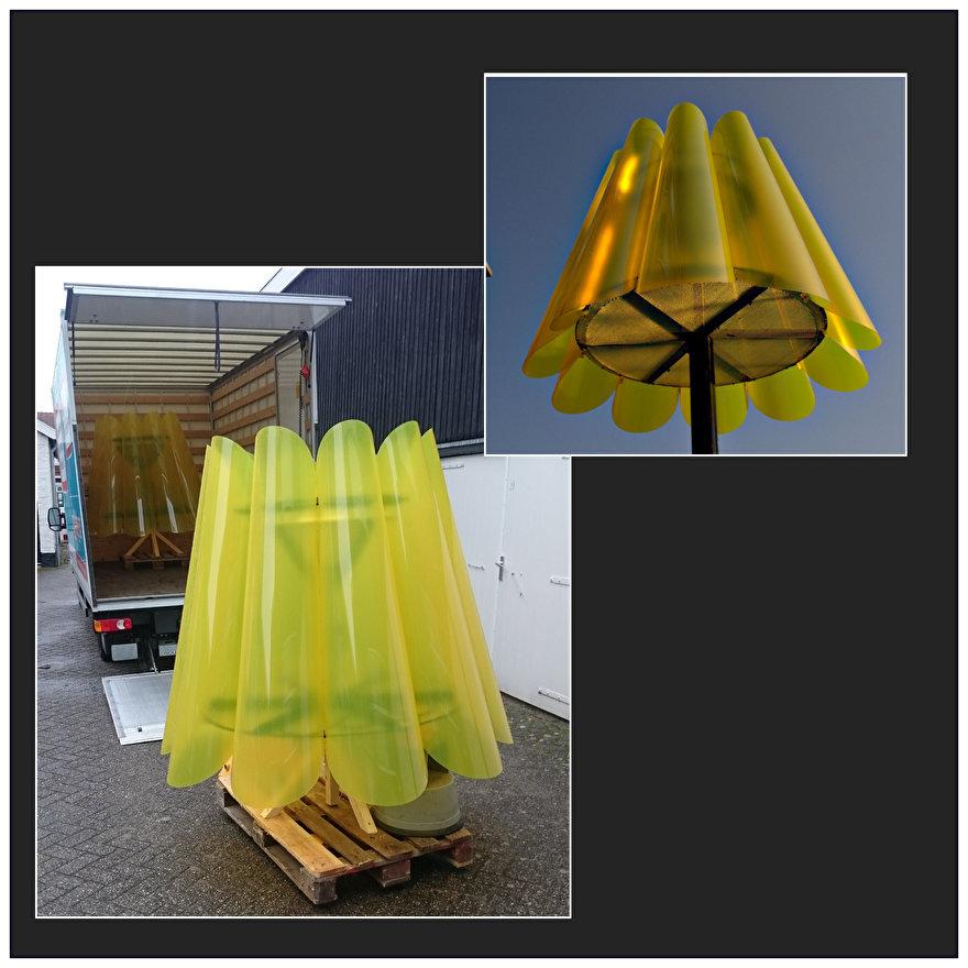 een lampenkap op een lantaarnpaal Utrecht