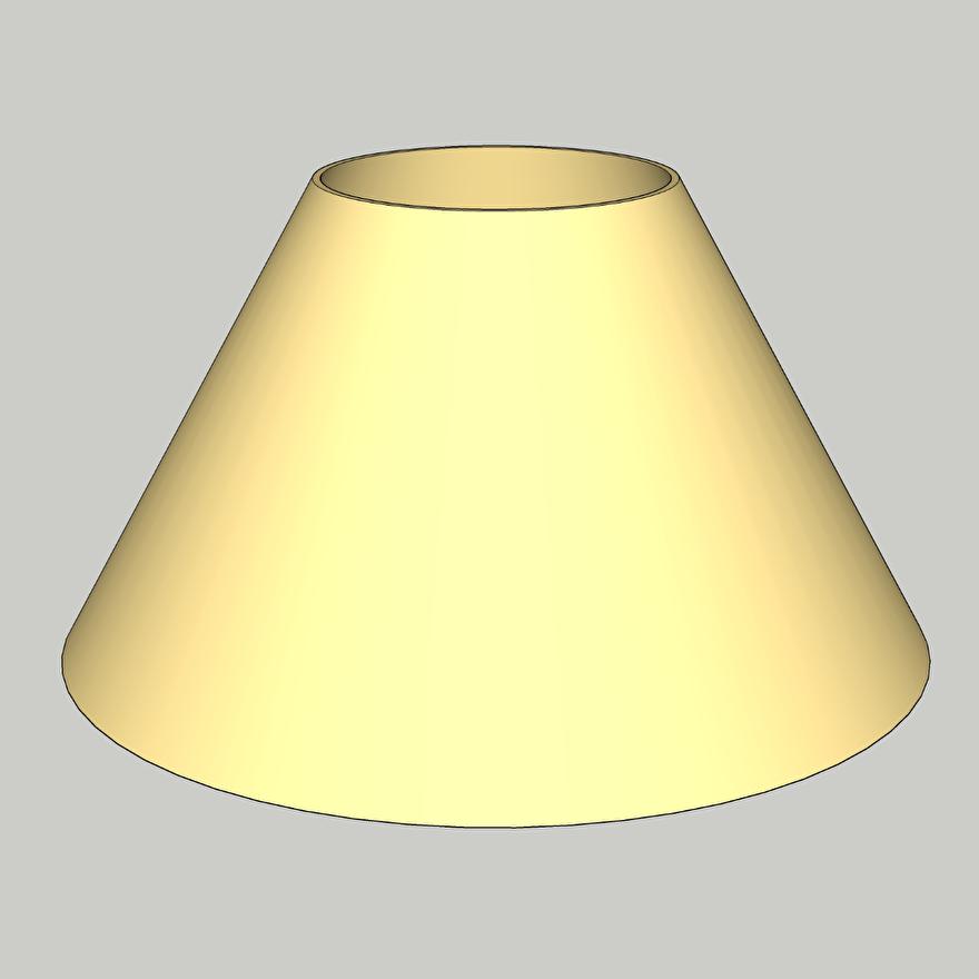 lampnkap model 33 engels schuin