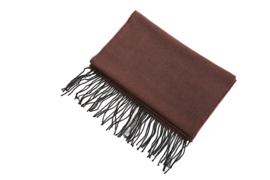 Fliex heren winter sjaal lang 190*32CM - bruin & zwart - visgraat