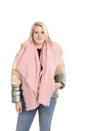 Emilie Scarves dames winter sjaal vierkant - roze