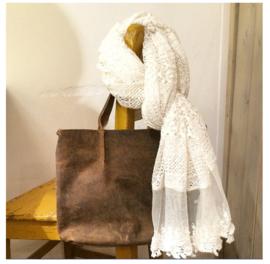 Emilie Scarves Omslagdoek Ibiza sjaal - Wit kant - Pareo