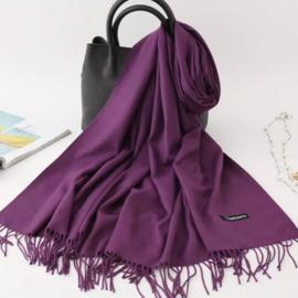 Emilie Scarves Pashmina sjaal Cashmere omslagdoek Paars - 200*63CM