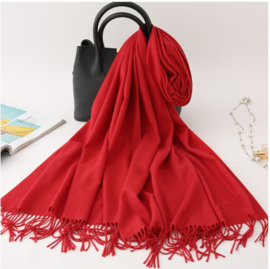 Emilie Scarves Pashmina sjaal dames | Cashmere | Shawl | omslagdoek | stola | Rood