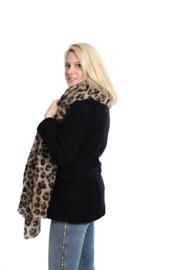 Emilie Scarves Winter sjaal dames - panterprint luipaard - 200*87CM