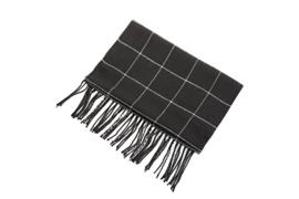 Fliex heren winter sjaal lang 190*32CM - Zwart wit - ruit