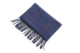 Fliex heren winter sjaal lang 190*32CM - Donker blauw - ruit