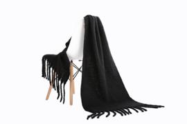 Emilie Scarves Winter sjaal extra lang en warm - zwart - 200*50CM