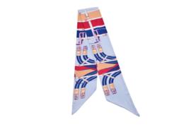 Sjaaltje | lang & smal | zijden | 160*16CM | Licht blauw