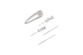 Haarspeld set 5 stuks | haarknip | haarclip | Diamant | glitter strass | kiss | love