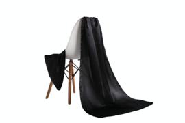 Emilie Scarves omslagdoek sjaal Lang Satijn - zwart - 200*70CM