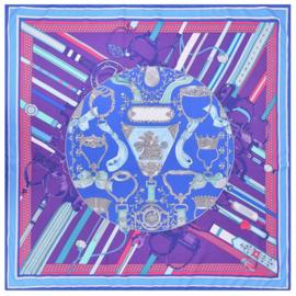 Emilie Scarves Sjaal Zijden blend 130*130CM paars - Teugels - Giftbox