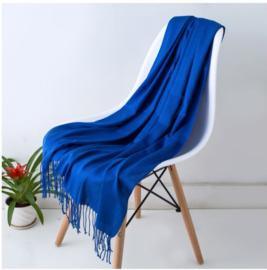 Emilie Scarves Pashmina sjaal Cashmere omslagdoek Kobalt - 200*63CM