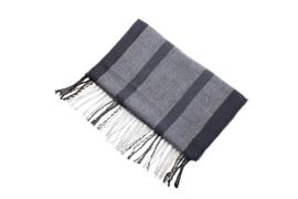 Fliex heren winter sjaal lang 190*32CM - Donker blauw - visgraat