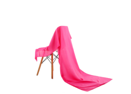 Emilie Scarves omslagdoek sjaal Lang Satijn - fuchsia roze - 200*70CM