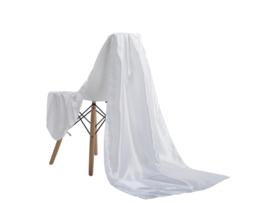 Emilie Scarves omslagdoek sjaal Lang Satijn - wit - 200*70CM