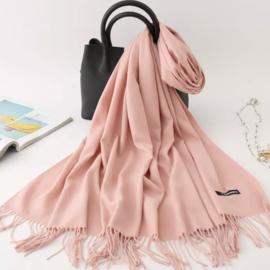 Emilie Scarves Pashmina sjaal dames | Cashmere | Shawl | omslagdoek | stola | Zacht roze