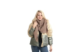 Emilie Scarves dames winter sjaal vierkant - taupe