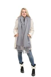 Emilie Scarves Winter sjaal extra lang en warm - grijs - 200*50CM