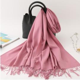 Emilie Scarves Pashmina sjaal Cashmere omslagdoek roze lavendel - 200*63CM