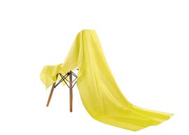 Emilie Scarves omslagdoek sjaal Lang Satijn - geel - 200*70CM