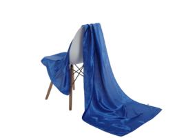 Emilie Scarves omslagdoek sjaal Lang Satijn - kobalt blauw - 200*70CM