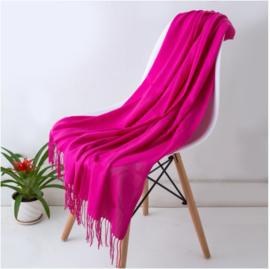 Emilie Scarves Pashmina sjaal Cashmere omslagdoek Fuchsia roze - 200*63CM