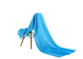Emilie Scarves omslagdoek sjaal Lang Satijn - hemels blauw - 200*70CM