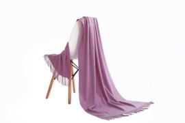 Emilie Scarves Pashmina sjaal Cashmere omslagdoek roze mauve / licht heidepaars - 200*63CM