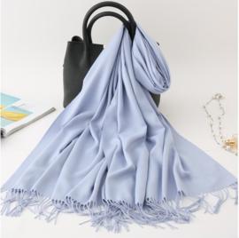 Emilie Scarves Pashmina sjaal Cashmere omslagdoek Lavendelblauw - 200*63CM