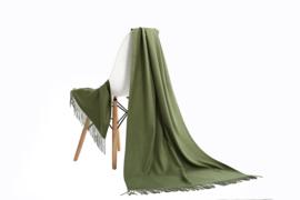 Emilie Scarves Pashmina sjaal Cashmere omslagdoek Leger groen - 200*63CM