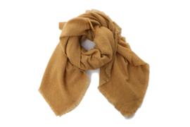 Emilie Scarves dames winter sjaal vierkant - okergeel