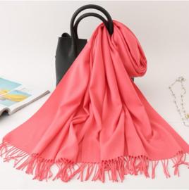 Emilie Scarves Pashmina sjaal Cashmere omslagdoek Koraal roze - 200*63CM