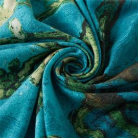 Van Gogh sjaal Cashmere - Amandelbloesem - Blauw