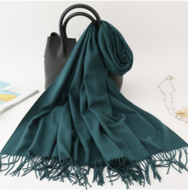 Emilie Scarves Pashmina sjaal Cashmere omslagdoek Flessengroen - 200*63CM
