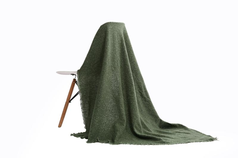 Emilie Scarves dames winter sjaal vierkant - olijfgroen