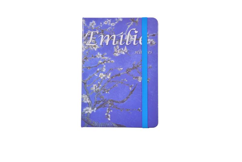 Emilie Scarves - Van Gogh Amandelbloesem - Notebook - Notitieboek (A5) Donker blauw