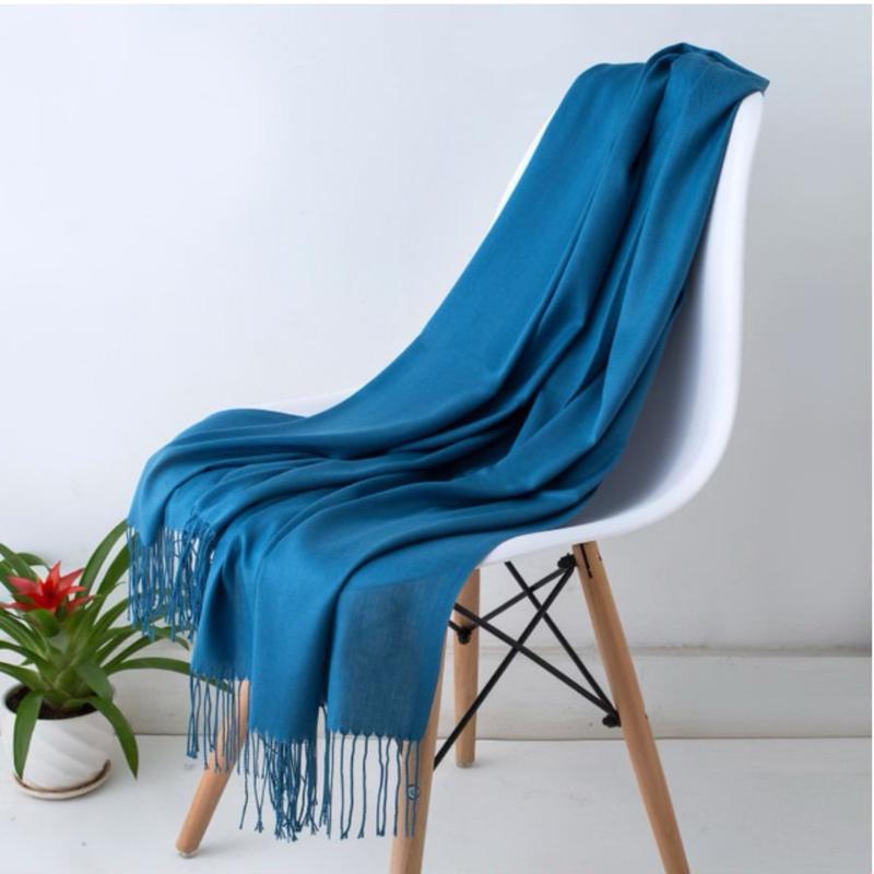 Emilie Scarves Pashmina sjaal Cashmere omslagdoek Petrol - 200*63CM