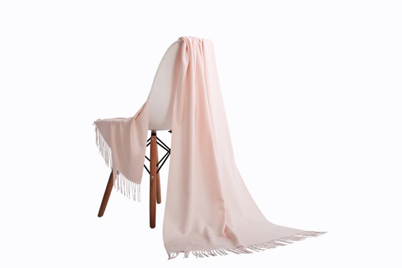 Emilie Scarves Pashmina sjaal Cashmere omslagdoek Wit Roze - 200*63CM - Bruidsmeisjes