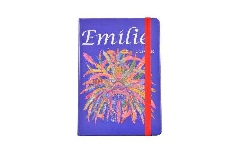 Emilie Scarves - Notebook - Notitieboek (A5) - Ibiza Feathers - Veren