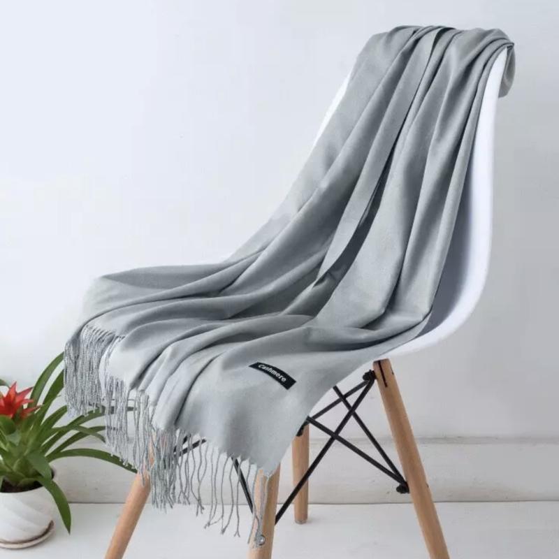 Emilie Scarves Pashmina sjaal Cashmere omslagdoek Grijs - 200*63CM