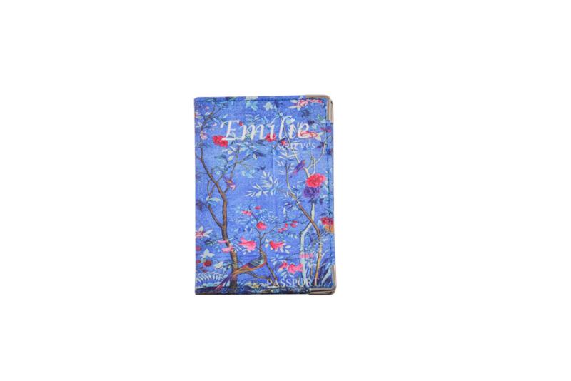 Emilie Scarves Paspoorthoesje - houder paspoort - Floral Garden   Bloemen blauw